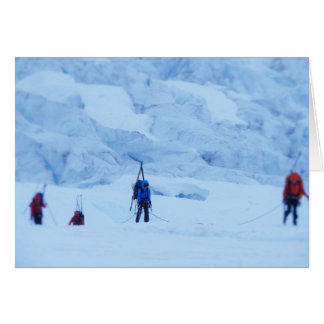 Navigating the Norris Icefall Greeting Card