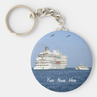 Navigating the Seas Personalized Basic Round Button Keychain