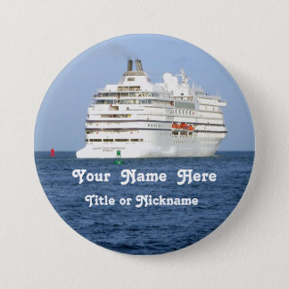 Navigating the Seas Personalized Pinback Button