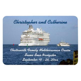Navigating the Seas Stateroom Door Marker Rectangular Photo Magnet
