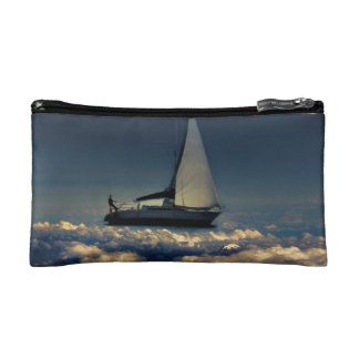 Navigating Trough Clouds Dreamy Collage Cosmetic Bag