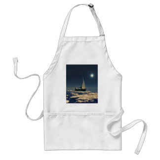 Navigating Trough Clouds Dreamy Collage Photo Adult Apron