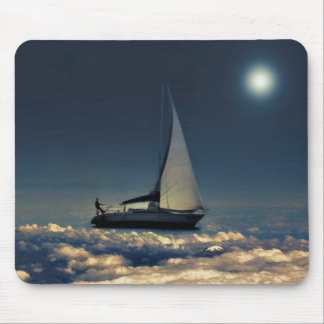 Navigating Trough Clouds Dreamy Collage Photo Mouse Pad