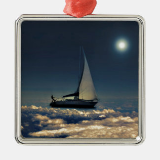 Navigating Trough Clouds Dreamy Collage Photo Christmas Tree Ornament
