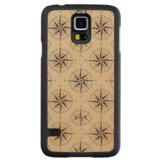 Navigation Compass Pattern Carved® Maple Galaxy S5 Slim Case