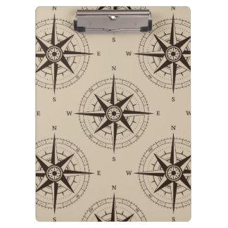 Navigation Compass Pattern Clipboards