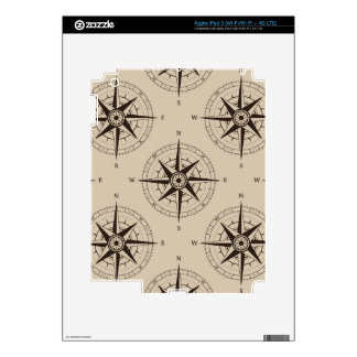 Navigation Compass Pattern iPad 3 Skin