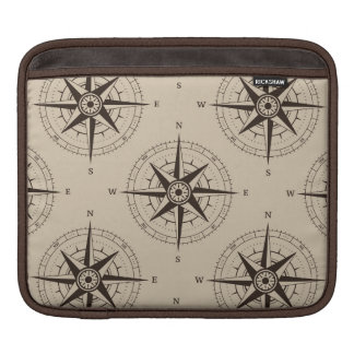Navigation Compass Pattern iPad Sleeve