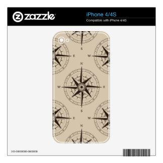 Navigation Compass Pattern iPhone 4S Skin