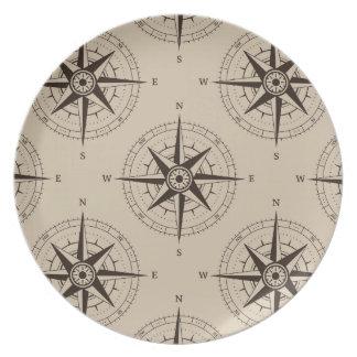 Navigation Compass Pattern Plate