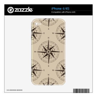 Navigation Compass Pattern Skins For iPhone 4S