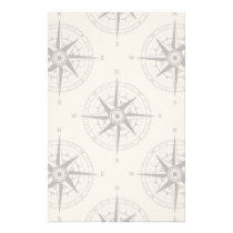 Navigation Compass Pattern Stationery