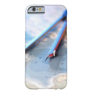 Navigation. Dividers sitting on a map. Barely There iPhone 6 Case