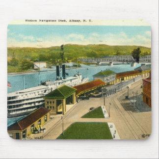 Navigation Dock, Albany NY 1924 vintage Mouse Pad