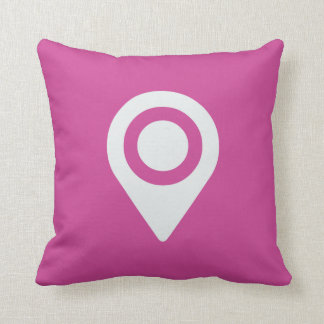 Navigation Icon on Hot Pink Throw Pillow