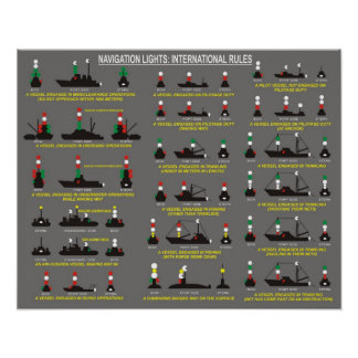 Navigation Lights : International Rules Poster