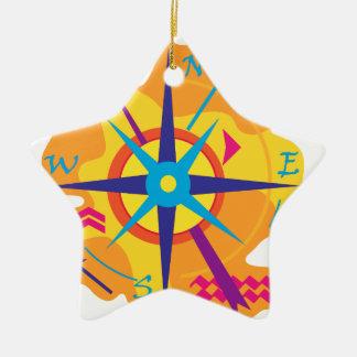 Navigation - orange ceramic ornament