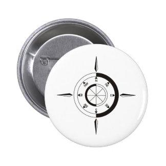 Navigation / sailing gift: Ship & airplane compass Pins