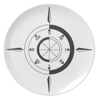 Navigation / sailing gift: Ship & airplane compass Plate