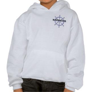 Navigator Ship Wheel Kids Hooded Sweatshirt