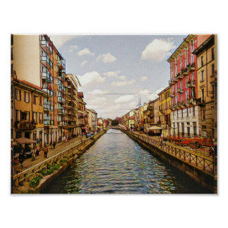 Navigli Canal Milano Poster