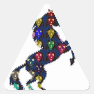navinJOSHI pintado NVN100 del cuento de hadas del Pegatina Trianguloada
