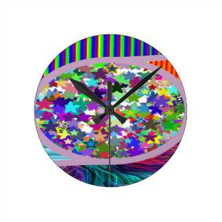 NAVINOgraph : Colorful Star Dish Signature Art Wall Clocks