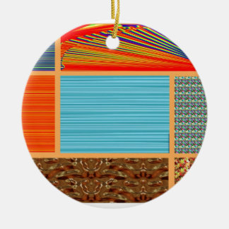 NAVINOgraph Signature Colorful Art Collage Christmas Tree Ornaments