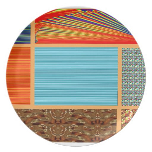 NAVINOgraph Signature Colorful Art Collage Party Plates