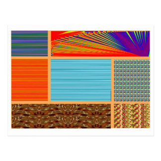 NAVINOgraph Signature Colorful Art Collage Post Card