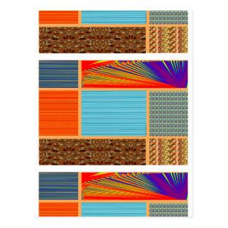 NAVINOgraph Signature Colorful Art Collage Postcard