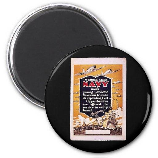 Navy 2 Inch Round Magnet