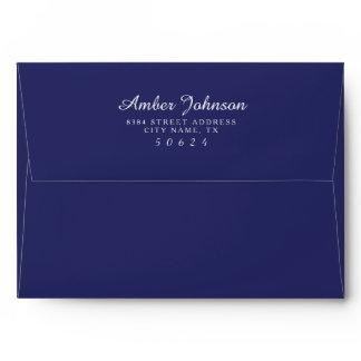Navy 5 x 7 Pre-Addressed Envelopes