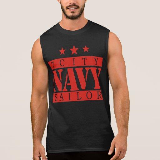 NAVY 7 City Shirt - Red Logo