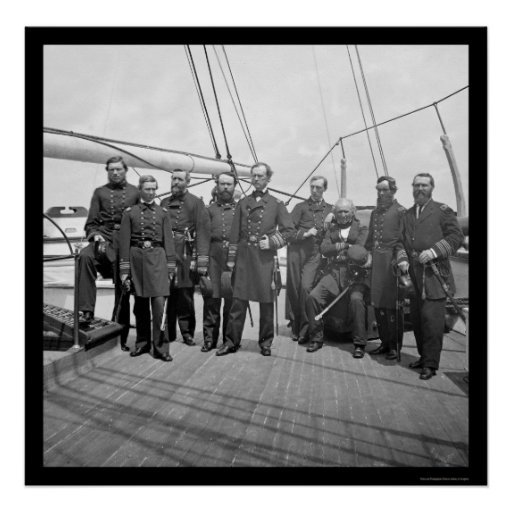 Navy Admiral Dahlgren Aboard the USS Pawnee 1862 Poster
