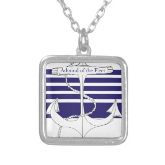 navy admiral of the fleet, tony fernandes silver plated necklace