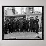 Navy Admiral Porter Aboard the USS Malvern 1864 Poster