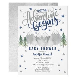 Navy Adventure Baby Shower Invitation Boy Baby