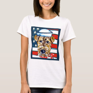 Navy Airedale T-Shirt