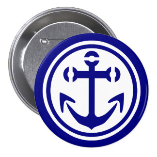 Navy Anchor Button