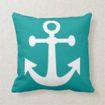 navy anchor fun throw pillow