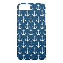 Navy Anchor Pattern | Nautical iPhone 7 Case