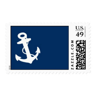 Navy Anchor Postage Stamp