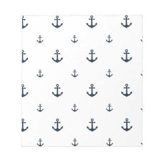 Navy Anchors Notepad