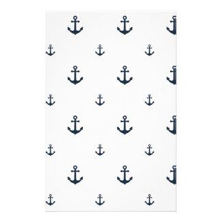 Navy Anchors Stationery