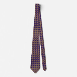 Navy and BurlyWood Exquisite Pattern Tie