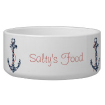 Navy and Coral Anchor Beach Wedding Bowl
