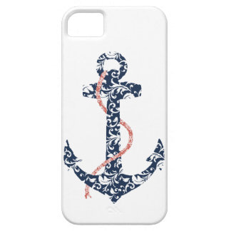 Navy and Coral Anchor Beach Wedding iPhone SE/5/5s Case