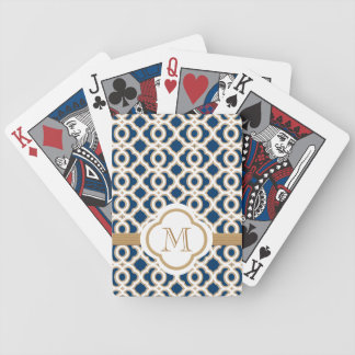Navy and Gold Bicycle Playing Cards