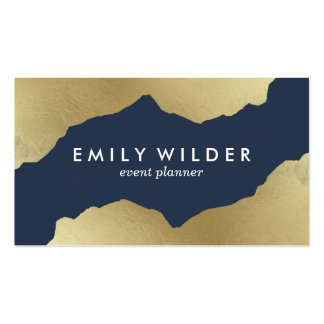 Navy and Gold Dipped | Business Card